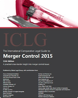 Our publication in the International Comparative Legal Guide to Merger Control 2015